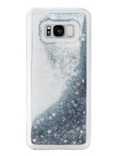 MobilCadde Mobil Cadde Samsung Galaxy S8 Plus Sulu Rubber Kılıf Gümüş